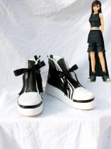 Final Fantasy VII Cosplay Tifa Ribbon Zippered Shoes