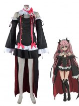 Seraph of the End Vampire Krul Tepes Black Lolita Dress Cosplay Costume