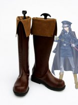 Unlight Generalissimus Evarist Brown Cosplay Boots