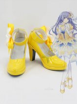 Date a Live Miku Izayoi Yellow Female Anime Cosplay Shoes
