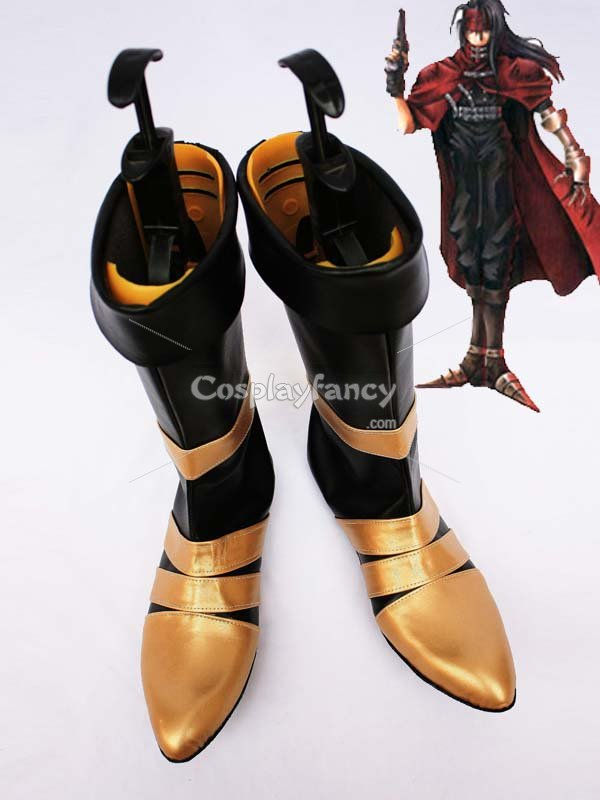 Final Fantasy VII Vincent Valentine Cosplay Show Boots