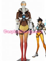 Game Overwatch Tracer Lena Oxton Oranger Cosplay Costume