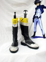 Mobile Suit Gundam 00 Cosplay Black & Silver Cosplay Boots