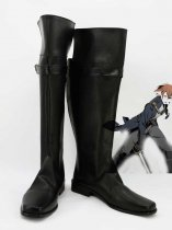 Unlight Deadman Wilhelm Black Cosplay Boots