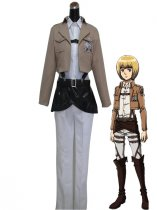 Attack on Titan Armin Arlart Trainees Squad Uniform Cosplay Costume