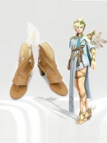 Game Overwatch Witch Mercy Cosplay Shoes