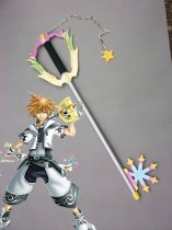 Kingdom Hearts White Keyblade Wood Cosplay Sword