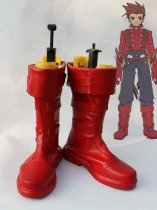 Tales of Symphonia Lloyd Irving Red Cosplay Boots