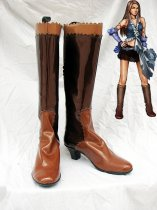 Final Fantasy FFX-2 Cosplay Lenne Artificial Leather Boots