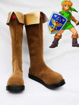 The Legend of Zelda Link Brown Cosplay Boots