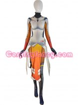 Game Overwatch Armored W Strips Mercy Cosplay Costume