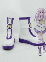 Hyperdimension Neptunia Nepgear Purple & White Cosplay Boots