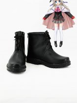 Little Busters! Noumi Kudryavka Black Cosplay Boots