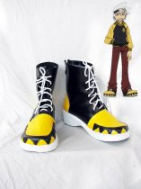 Soul Eater Black and Yellow Cosplay Soul's Lace Up Shoes