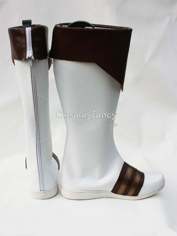 Tales of Xillia Alvin White & Brown Cosplay Boots