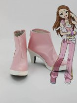Idolm@ster Iori Minase Pink Female Hight Heel Cosplay Boots