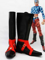 JOJO Guido Mista Black & Red Cosplay Boots