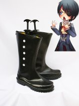 Black Butler Cosplay Ciel's Black Buttoned Cosplay Boots