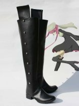 Bleach Riruka Dokugamine Black Long Cosplay Boots