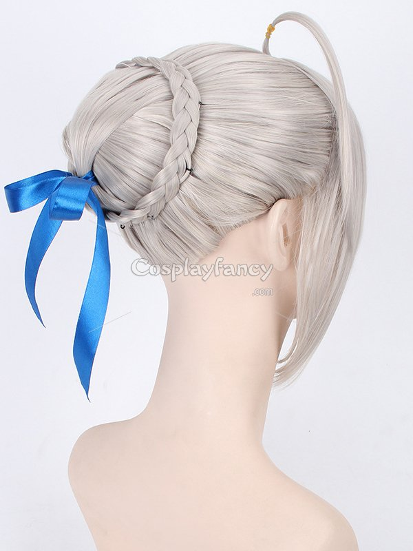 Fate Stay Night/Fatezero Saber Silver Cosplay Wig