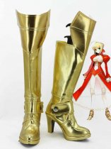 Fate/stay Night Cosplay Red Saber Gold Hight Heel Cosplay Boots