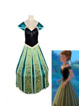 Frozen Princess Anna of Arendelle Crowned Cosplay Formal Dress