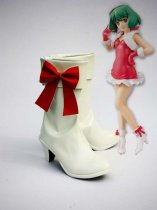 Macross Frontier Cosplay Ranka Lee White Cosplay Boots