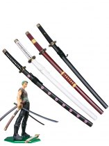 One Piece Cosplay Roronoa Zoro Cosplay Sword 4 Pieces