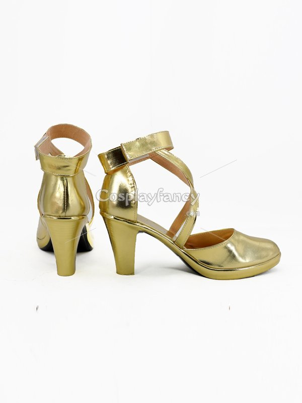 Tharja Gold Shoes Fire Emblem Awakening Game Cosplay Boots