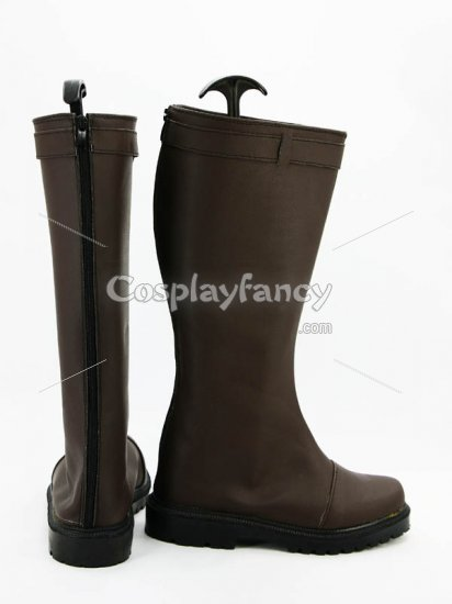 Unlight StrayDog Izac Brown Cosplay Boots - Click Image to Close