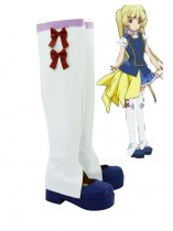 AKB0048 Yuka Ichijo Blue and White Cosplay Boots