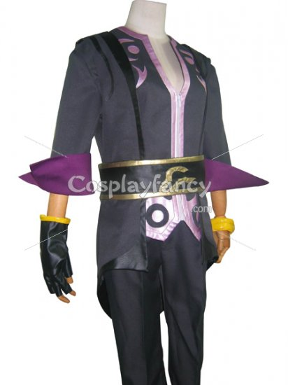 Tales of Symphonia Cosplay Costume Black and Purple Costume - Click Image to Close