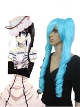 Black Butler Ciel Phantomhive Female Edition Blue Cosplay Wig
