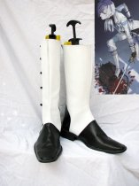 Black Butler Cosplay Charles Grey Black & White Cosplay Boots