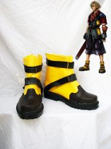 Final Fantasy X-2 Shuyin's Black & Yellow Cosplay Shoes Boots