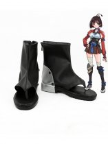 Kabaneri of the Iron Fortress Mumei Black & Silver Cosplay Shoes