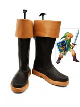 The Legend of Zelda Link Brown & Black Cosplay Boots