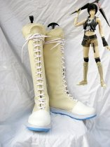 Final Fantasy VII Yuffie Kisaragi Fancy Cosplay Flat Boots