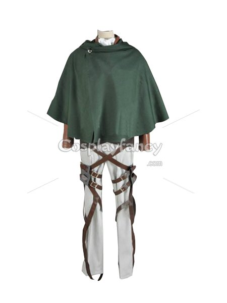 Attack on Titan Rivaille Cosplay Costume Scouting Legion Uniform