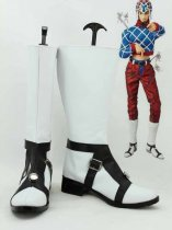 JOJO Guido Mista Black & White Cosplay Boots