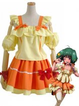 Macross Frontier Ranka Lee Orange & Yellow Cosplay Costume