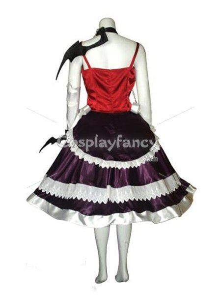 Rosario and Vampire Moka Akashiya Red & Purple Cosplay Costume