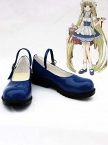 Chobits Chii / Eruda Artifical Leather Cosplay Shoes