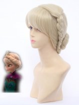 Frozen Elsa the Snow Queen Crowned Cosplay Wig