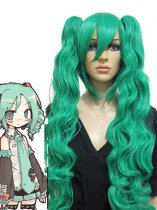 Green Curl Vocaloid Miku Cosplay Wig