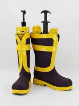 Fairy Tail Natsu Dragneel Purple & Yellow Cosplay Boots