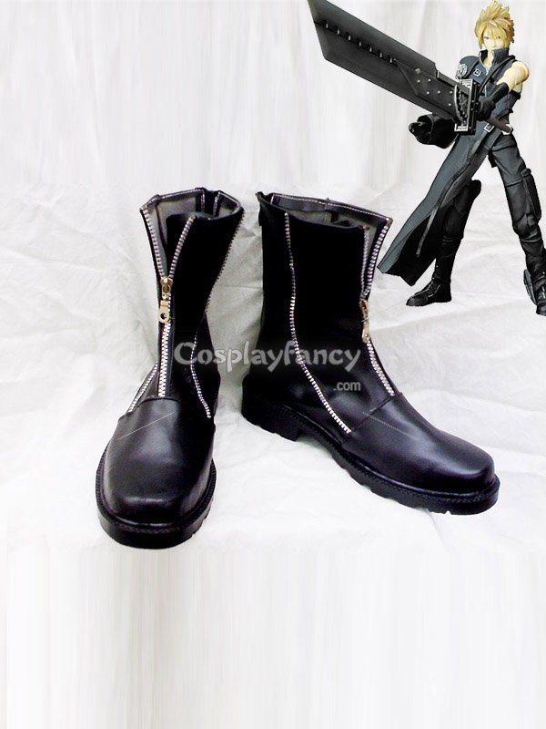 Final Fantasy VII Cloud Strife Fancy Zippered Cosplay Shoes