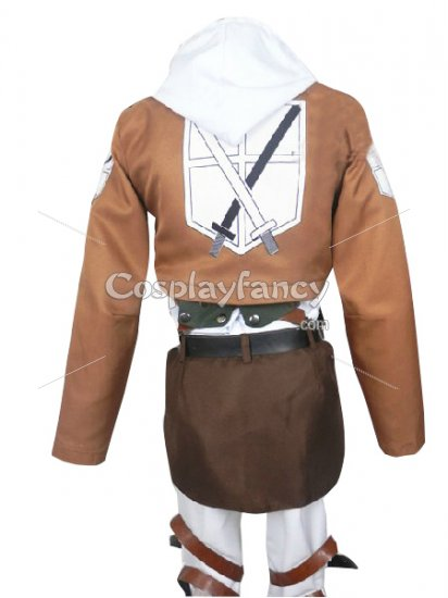 Attack on Titan Annie Leonhardt Cosplay Costume Trainees Squad Uniform - Click Image to Close