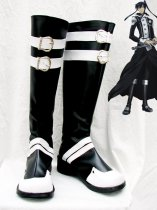 D.Gray-Man Kanda Yuu Black & White Cosplay Boots