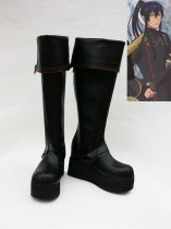 D Gray-Man Yu Kanda Black Long Cosplay Boots